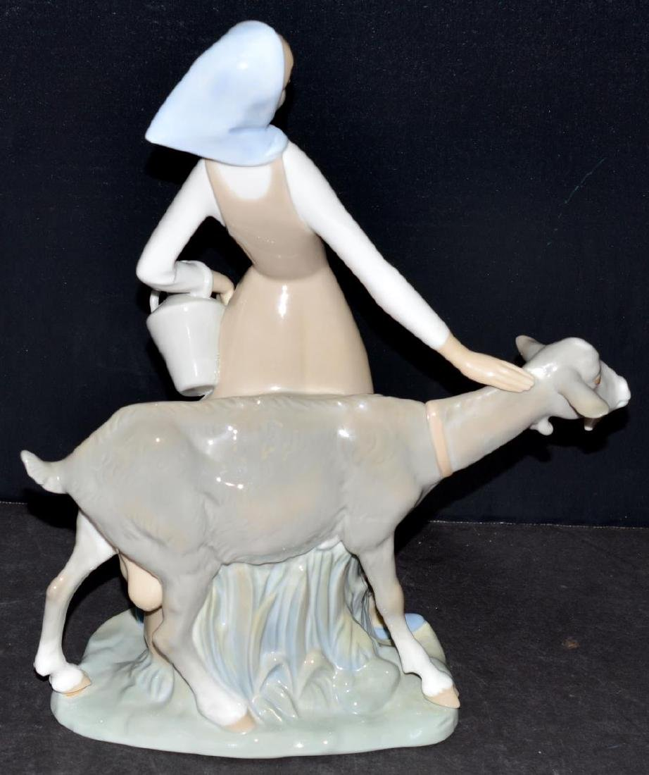Lladro Figurine #4590 Girl with Pitcher/Jug & Goat - 3