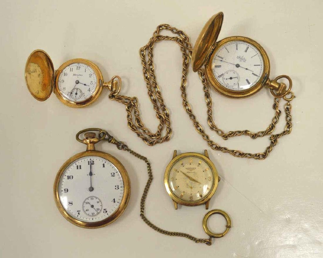 Lot of gold plated pocket watches