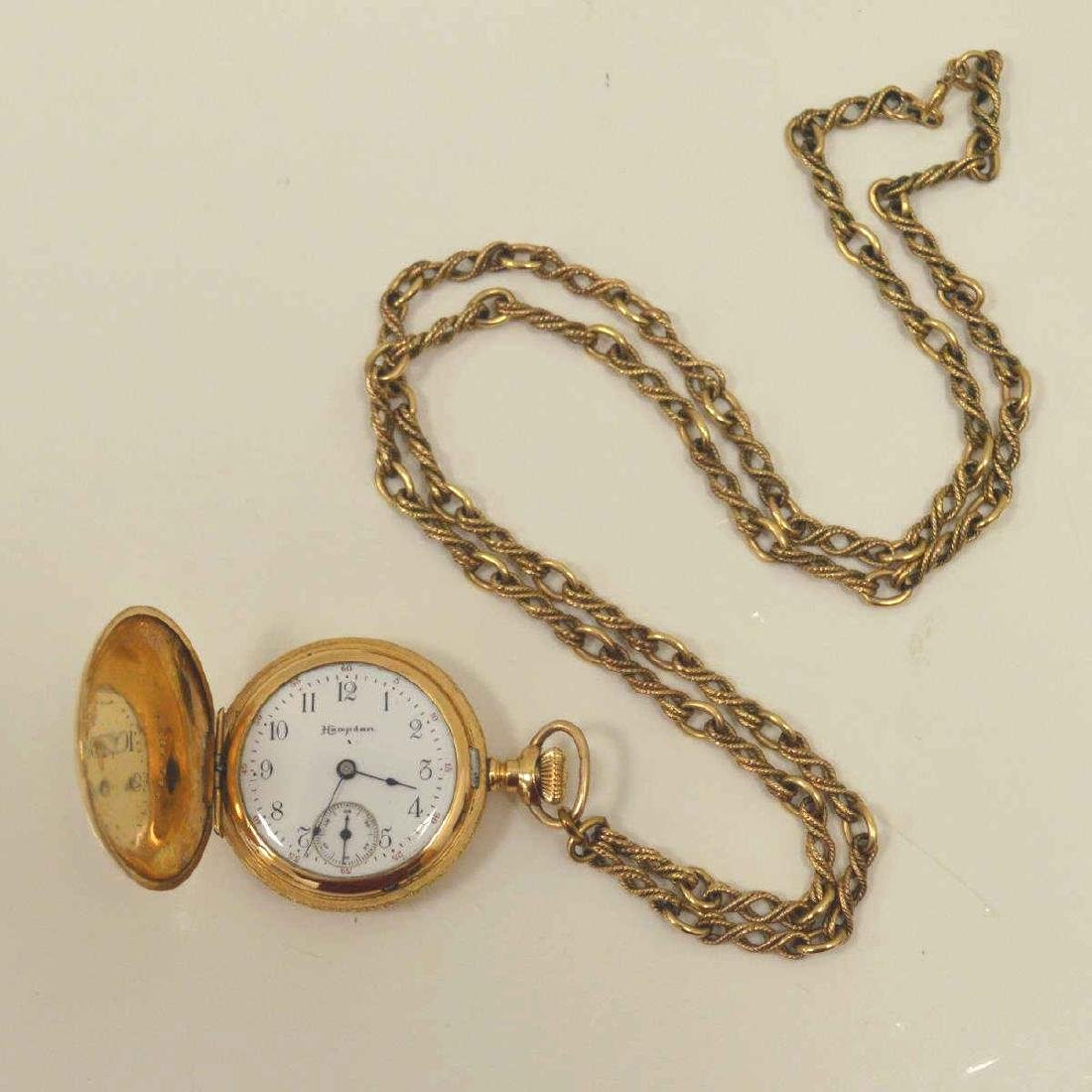 Lot of gold plated pocket watches - 2