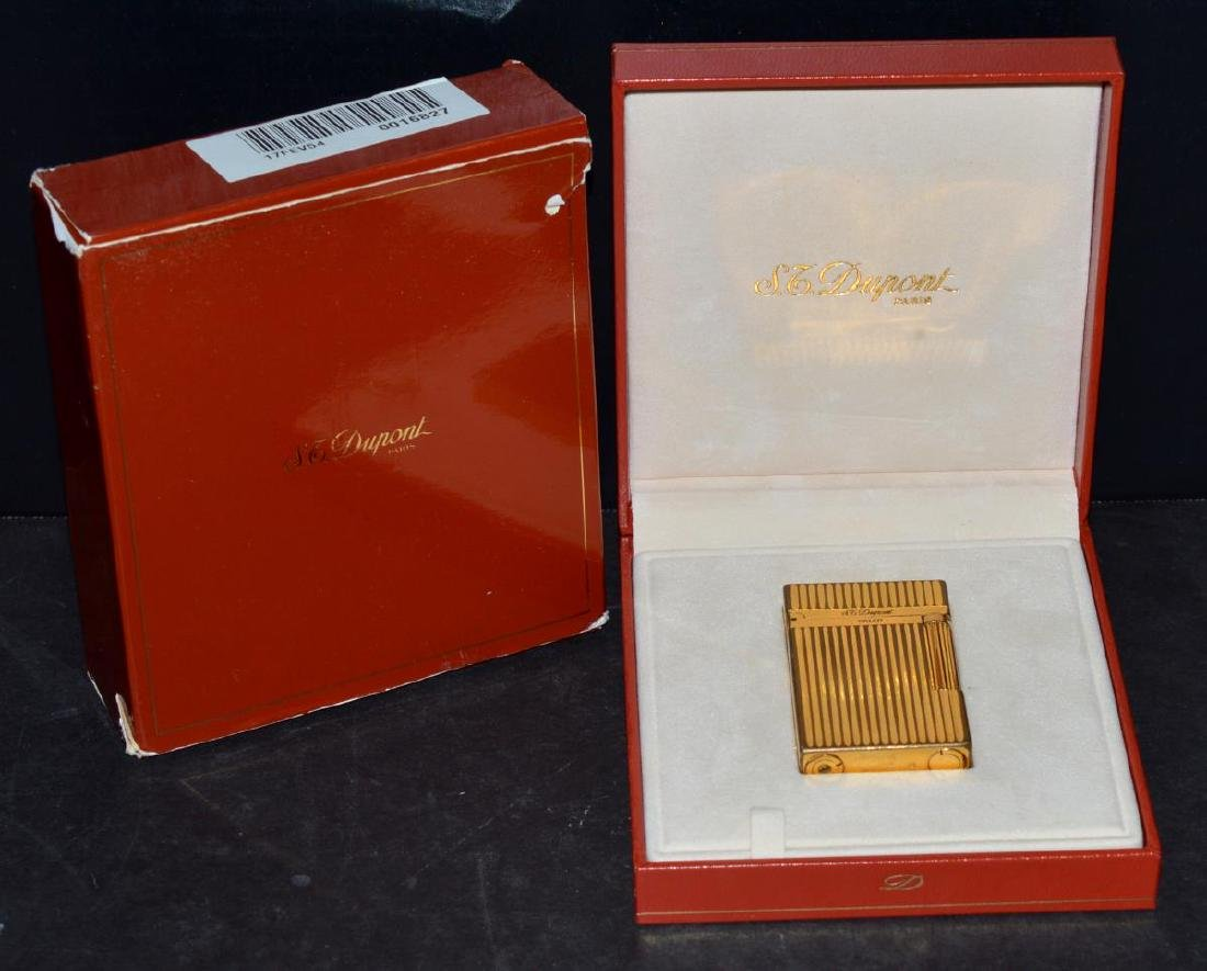 "S.T. Dupont ""Line 2"" Gold Lighter w/Box & Papers"