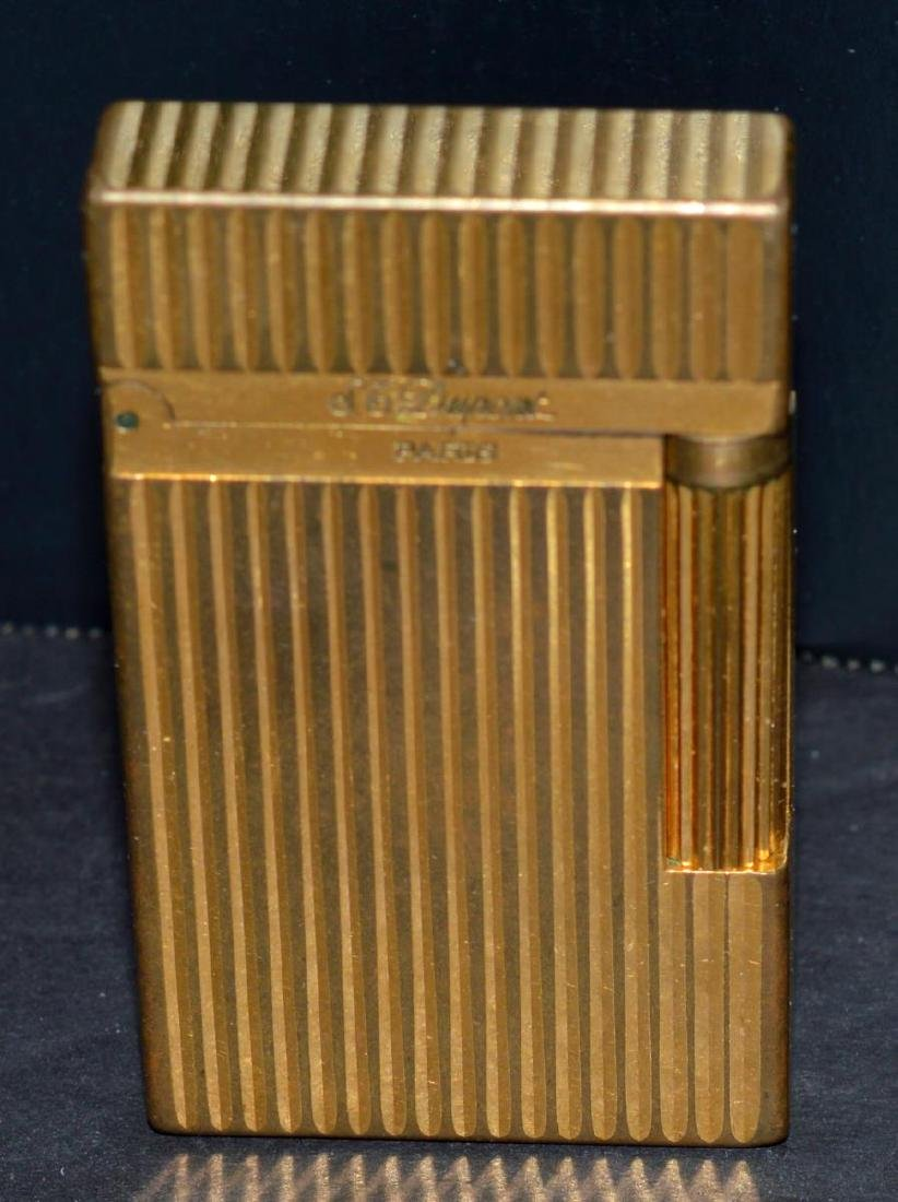 "S.T. Dupont ""Line 2"" Gold Lighter w/Box & Papers - 2"