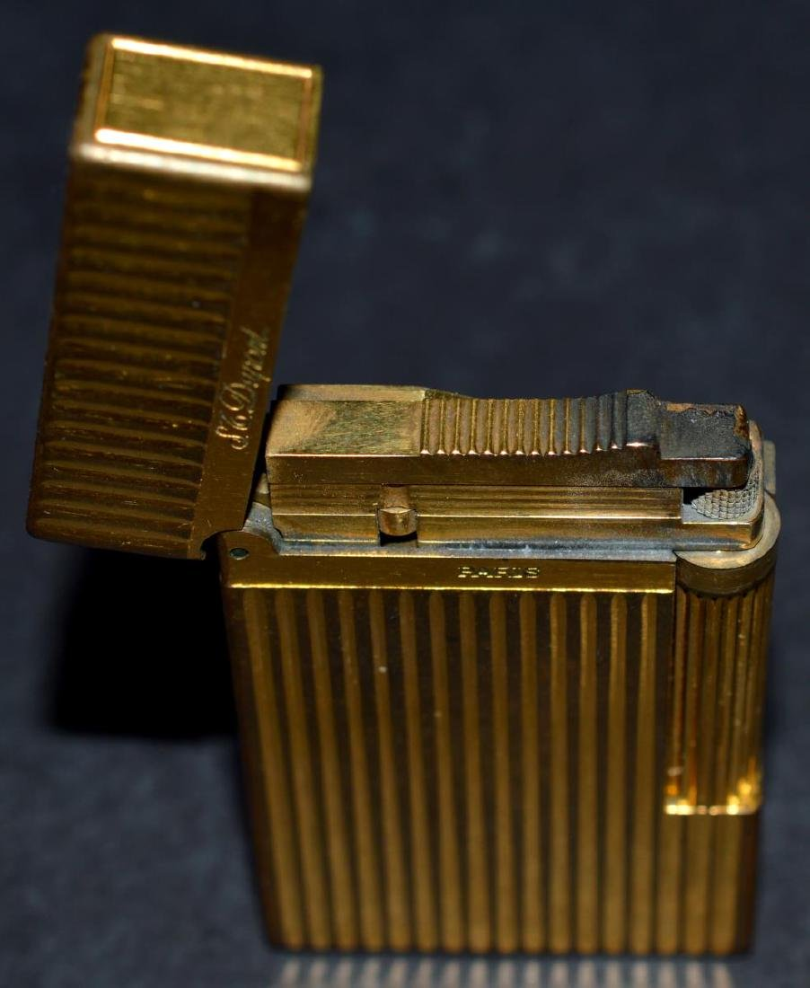 "S.T. Dupont ""Line 2"" Gold Lighter w/Box & Papers - 5"