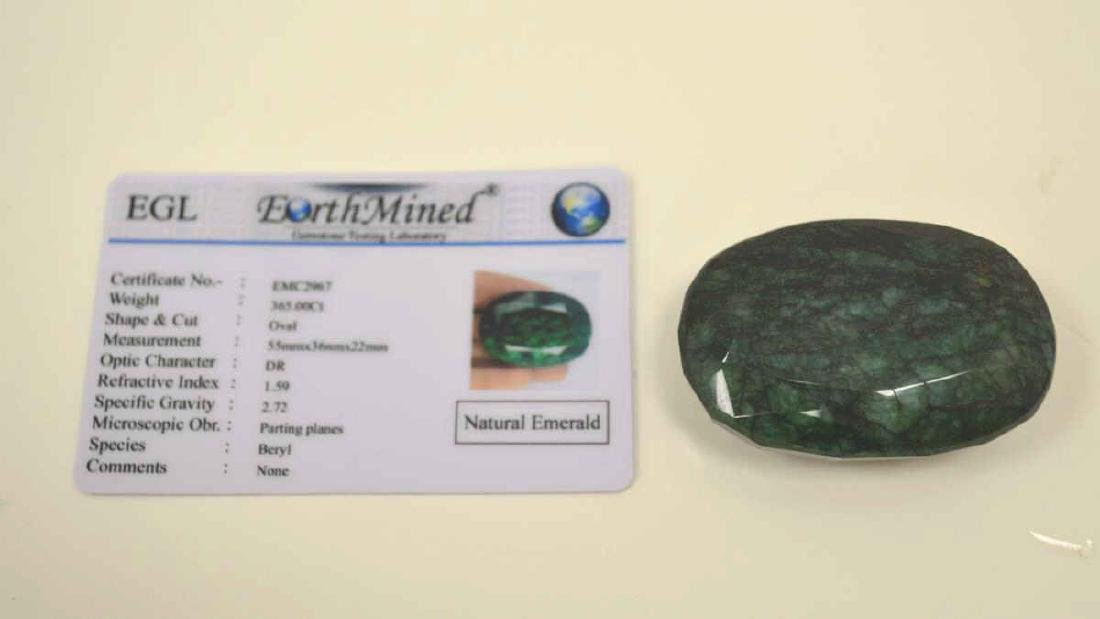 Loose 365ct opaque emerald