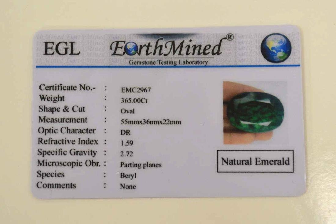 Loose 365ct opaque emerald - 5