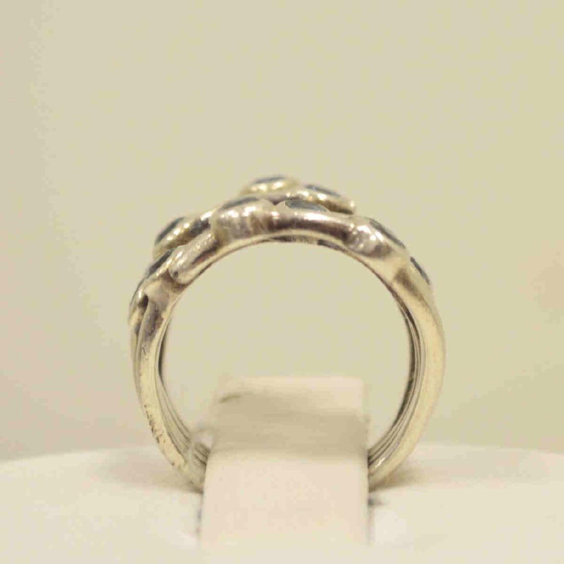 Sterling Silver blue topaz ring - 3