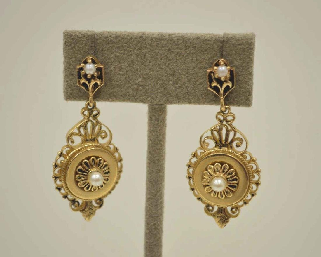 Vintage 14kt yellow gold earrings