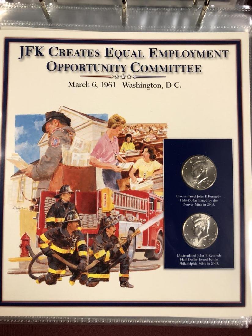 John F. Kennedy Half Educational Album - 7