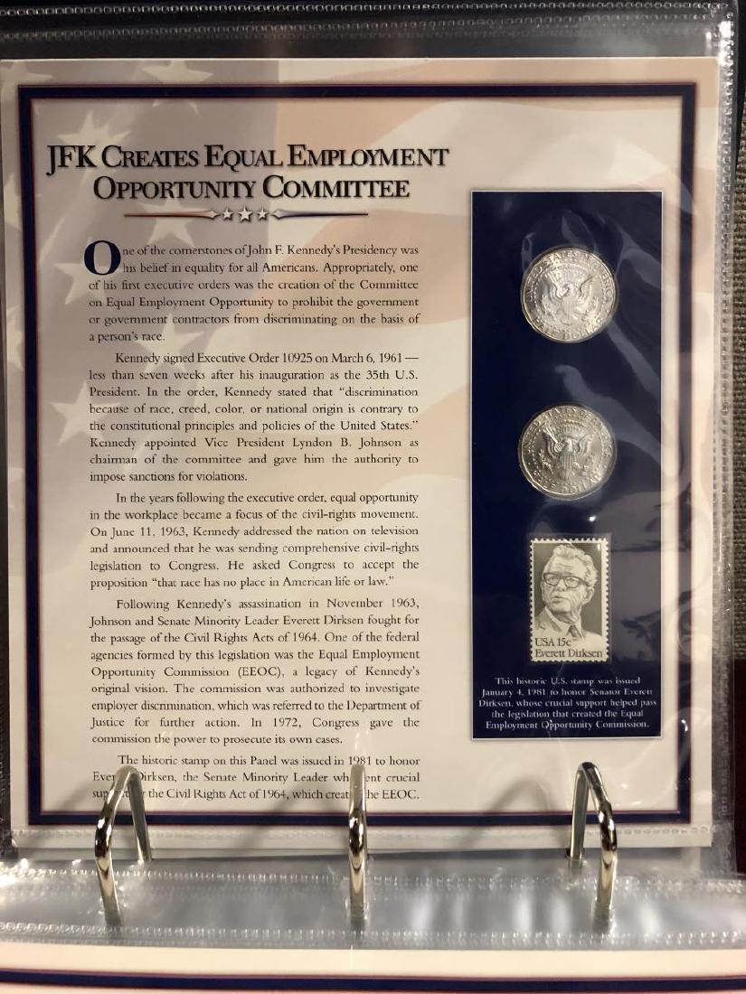 John F. Kennedy Half Educational Album - 8