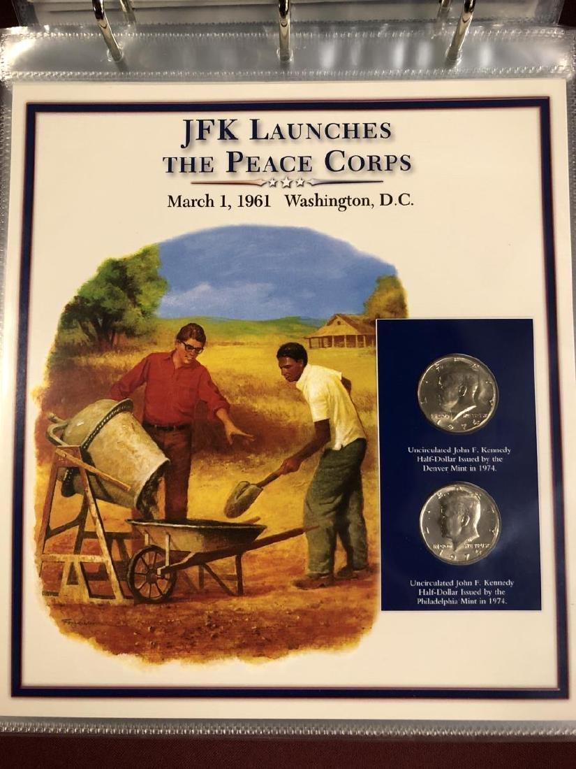 John F. Kennedy Half Educational Album - 9