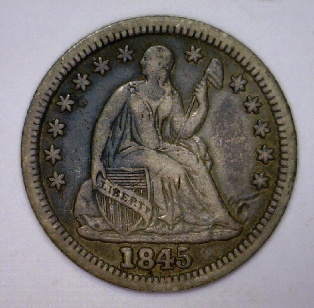 1845 Seated Liberty Half Dime Extra Fine XF