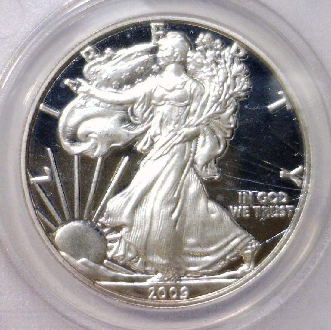 2009-DC Silver Eagle Daniel Carr Proof Overstrike - 2