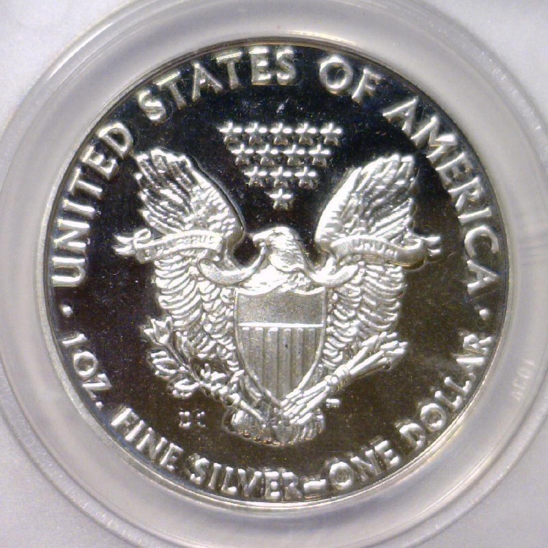 2009-DC Silver Eagle Daniel Carr Proof Overstrike - 3
