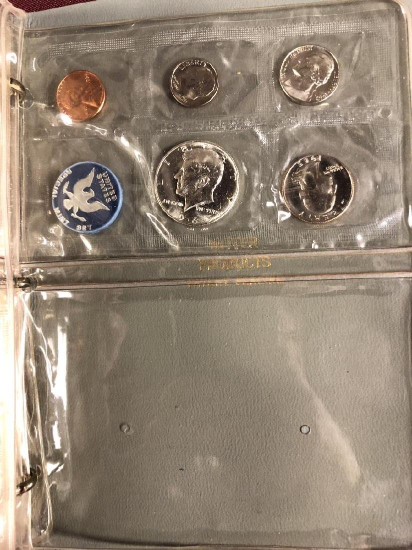 1957 - 1964 Silver Proof Set Collection in Folio - 10