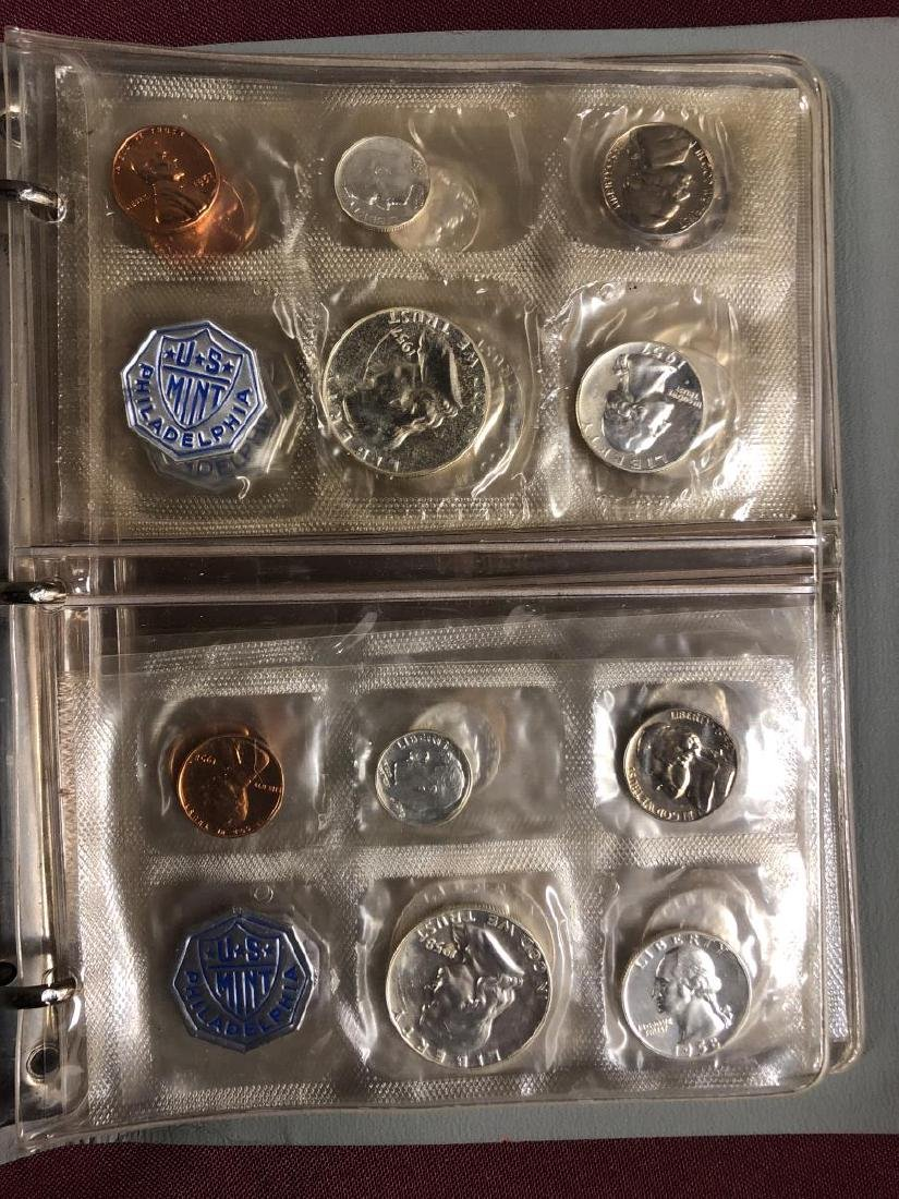 1957 - 1964 Silver Proof Set Collection in Folio - 2