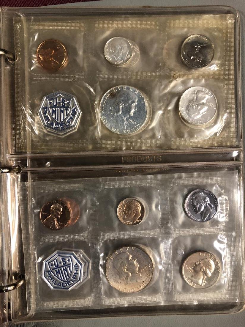 1957 - 1964 Silver Proof Set Collection in Folio - 6
