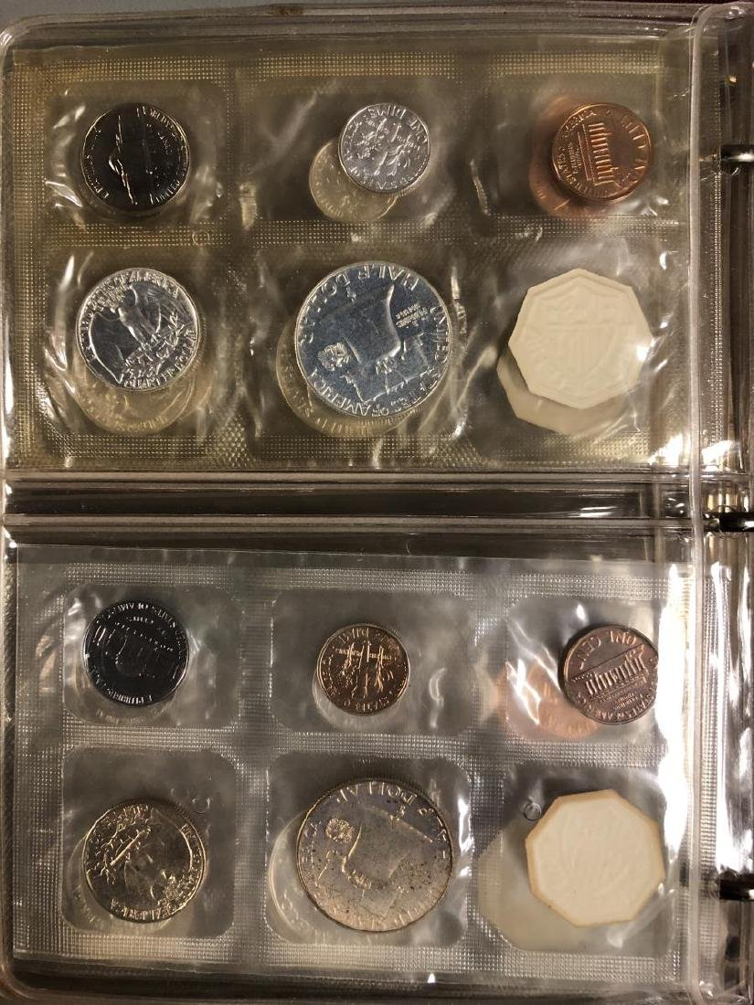 1957 - 1964 Silver Proof Set Collection in Folio - 7