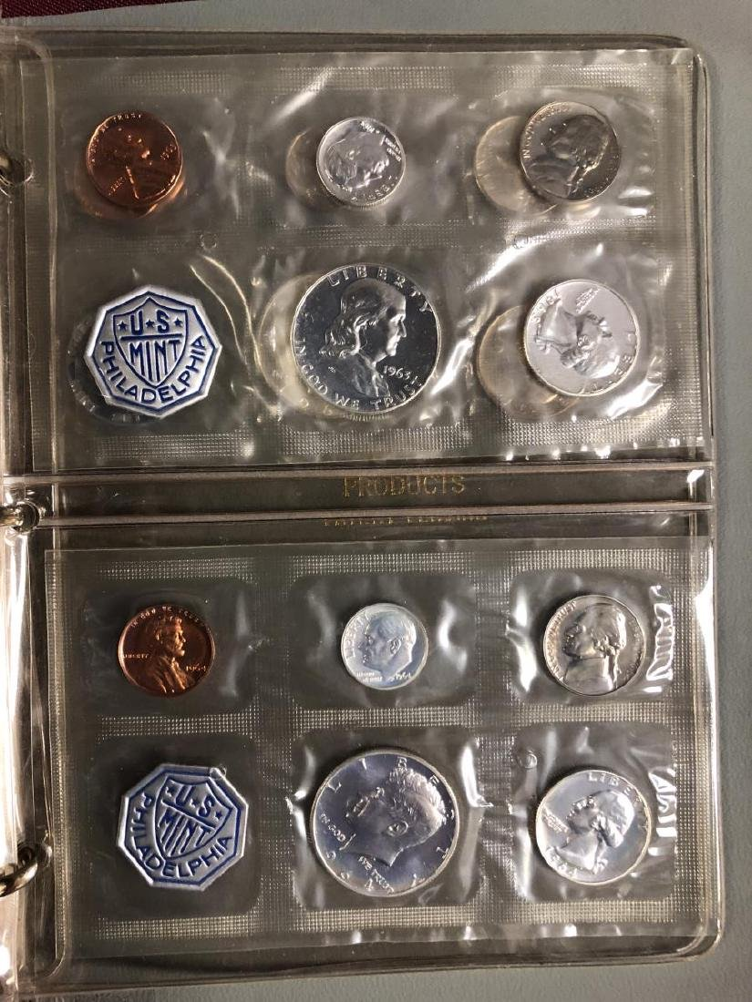 1957 - 1964 Silver Proof Set Collection in Folio - 8