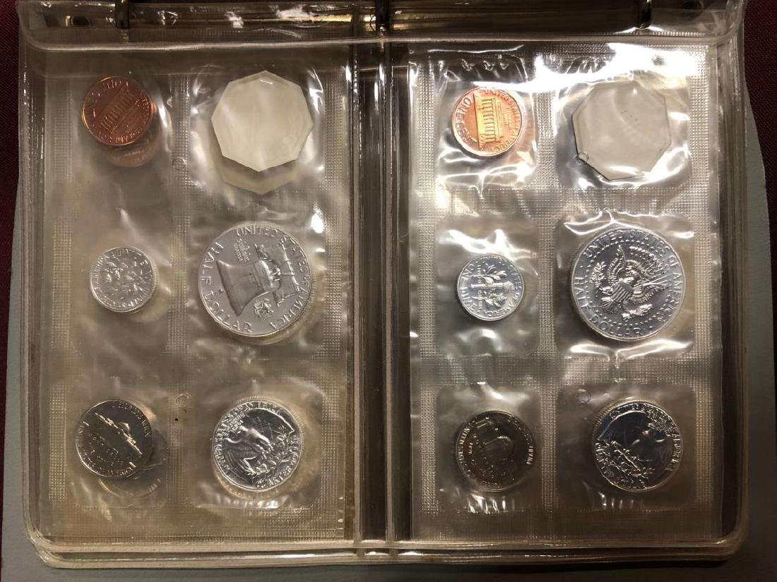 1957 - 1964 Silver Proof Set Collection in Folio - 9