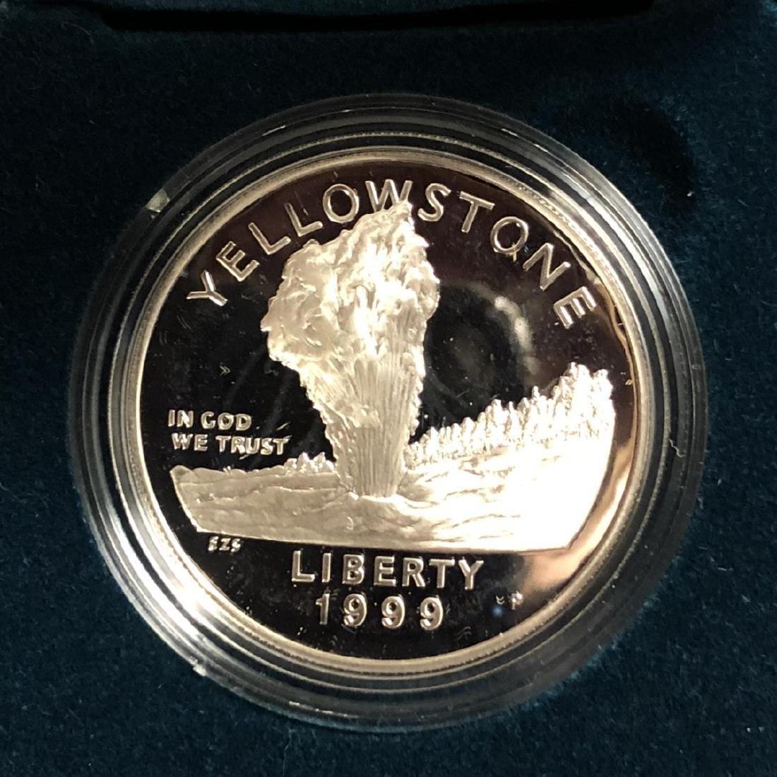 1999 Yellowstone Commemorative Proof Silver $1 - 2