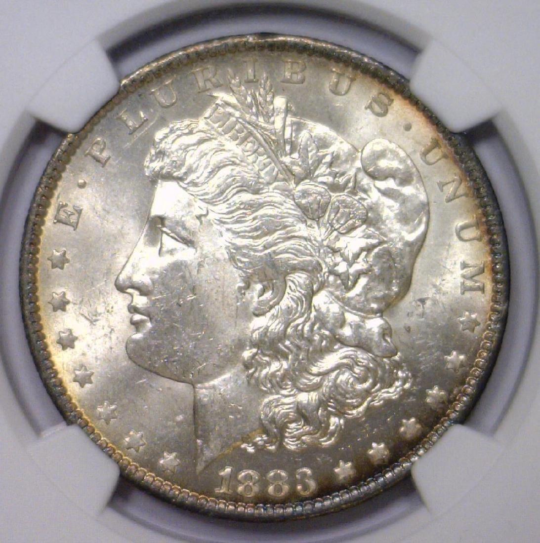 1883-O Morgan Silver Dollar NGC UNC det. obv clnd