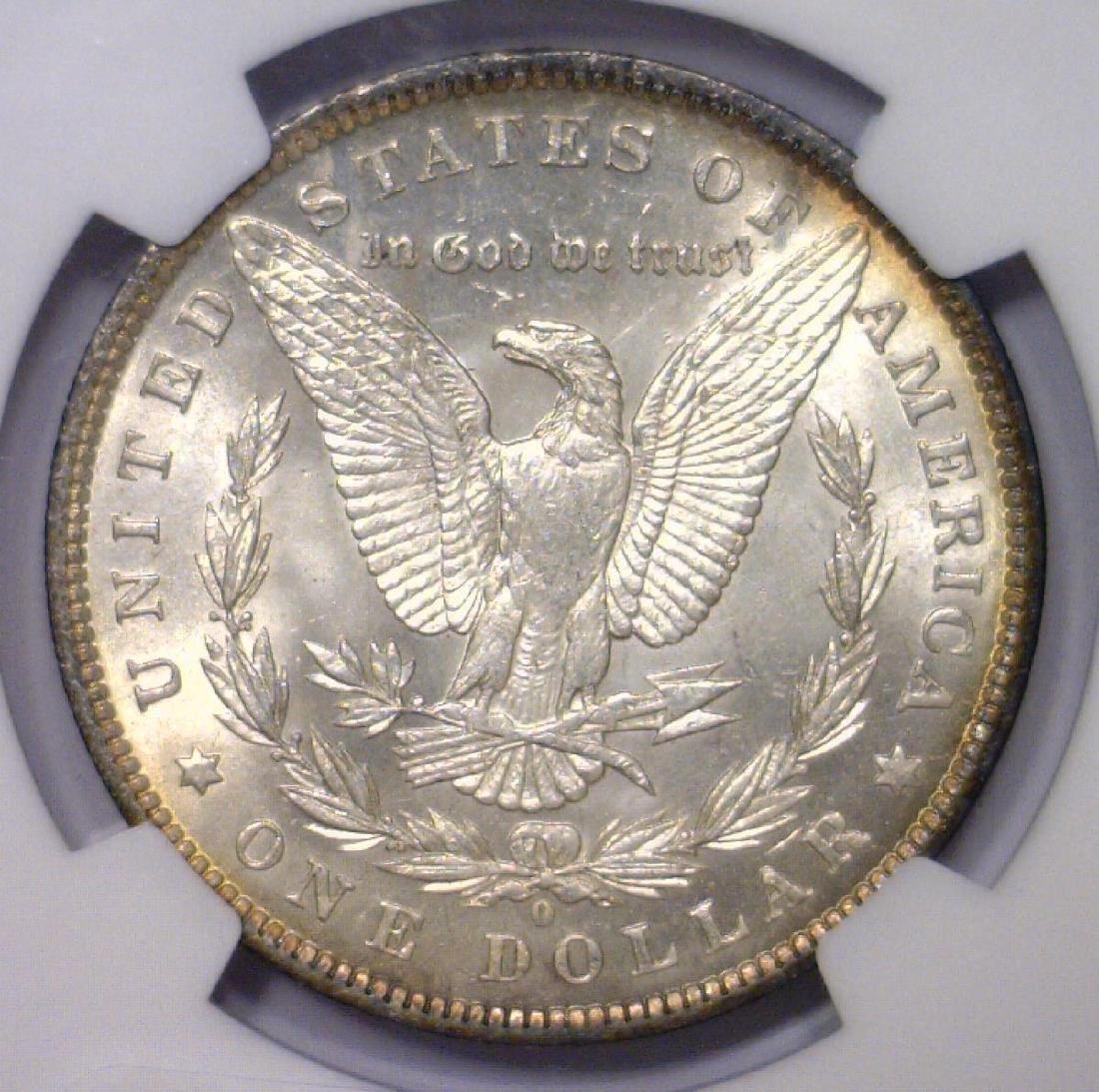 1883-O Morgan Silver Dollar NGC UNC det. obv clnd - 3