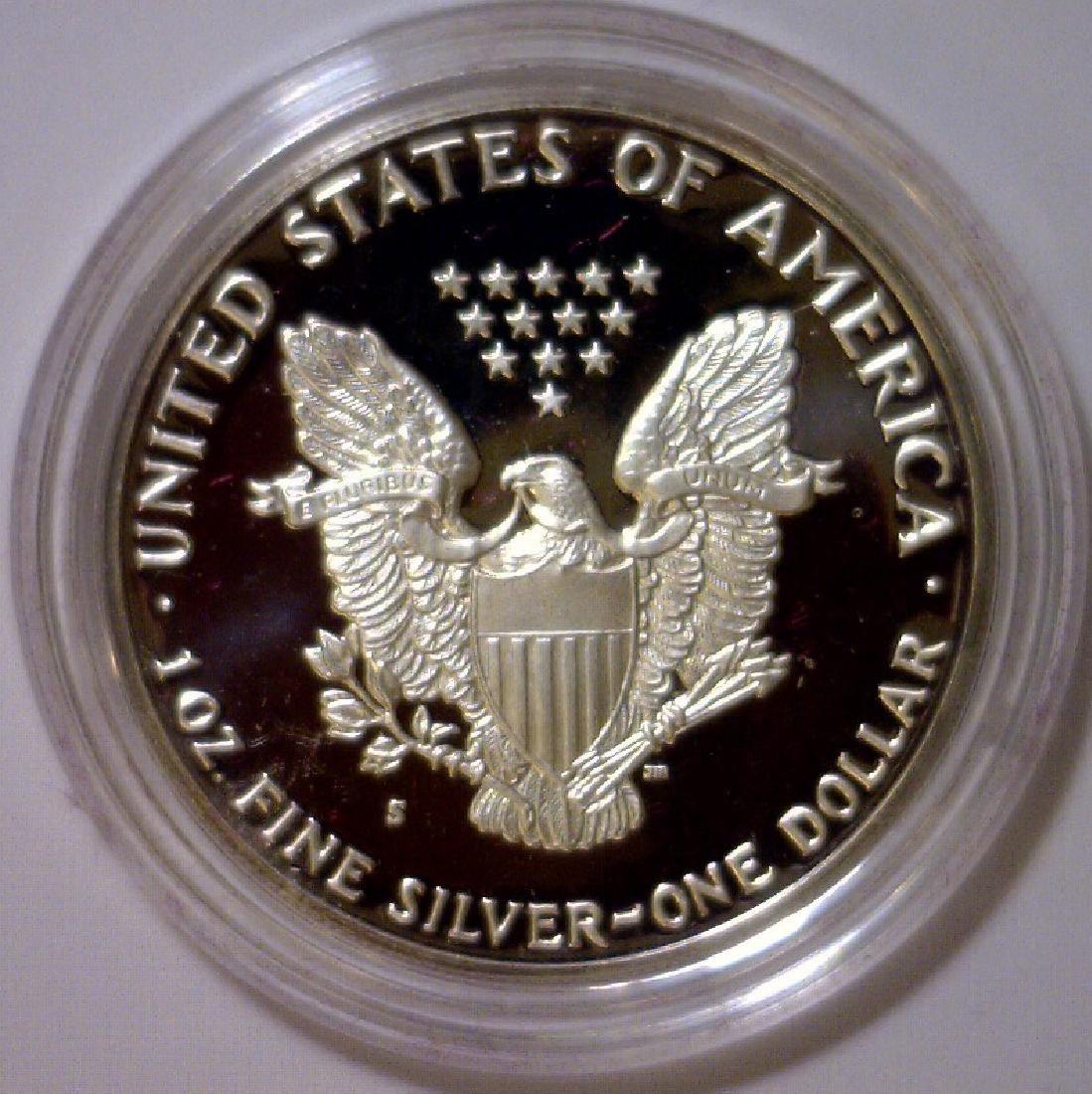 1987 Silver American Proof Eagle with Box & COA - 3