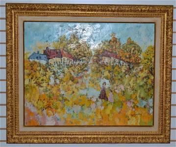 Reni Sinicki Oil on Canvas Impressionist Painting