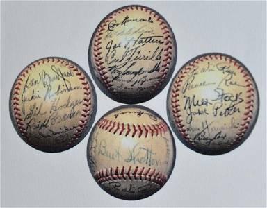 1950 Team Signed Brooklyn Dodgers Baseball JSA LOA
