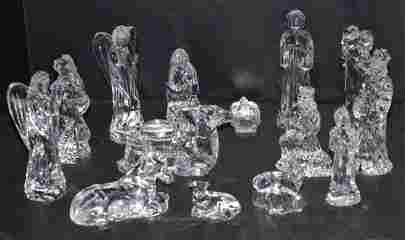 14 Waterford Crystal Nativity Figurines with Boxes