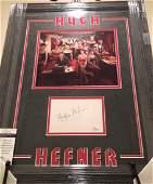 Framed & Matted Hugh Hefner Autograph & Photo JSA