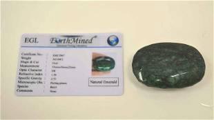 Loose 365ct opaque emerald
