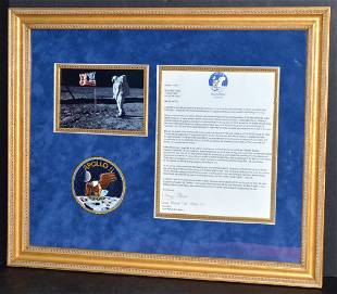 Buzz Aldrin Important Letter Picture Patch