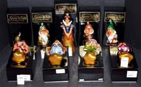 Radko Snow White  7 Dwarfs Christmas Ornaments