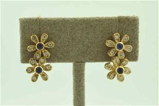 14kt yellow gold flower earrings