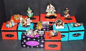 11 Radko Little Gems Christmas Ornaments wBoxes