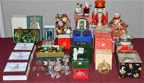 Eclectic Mix of Holiday Items Waterford Radko