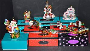9 Christopher Radko Christmas Ornaments with Boxes