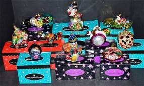 10 Christopher Radko Christmas Ornaments wBoxes