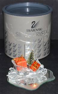Swarovski Crystal Santas Sleigh Tree Mirror Box