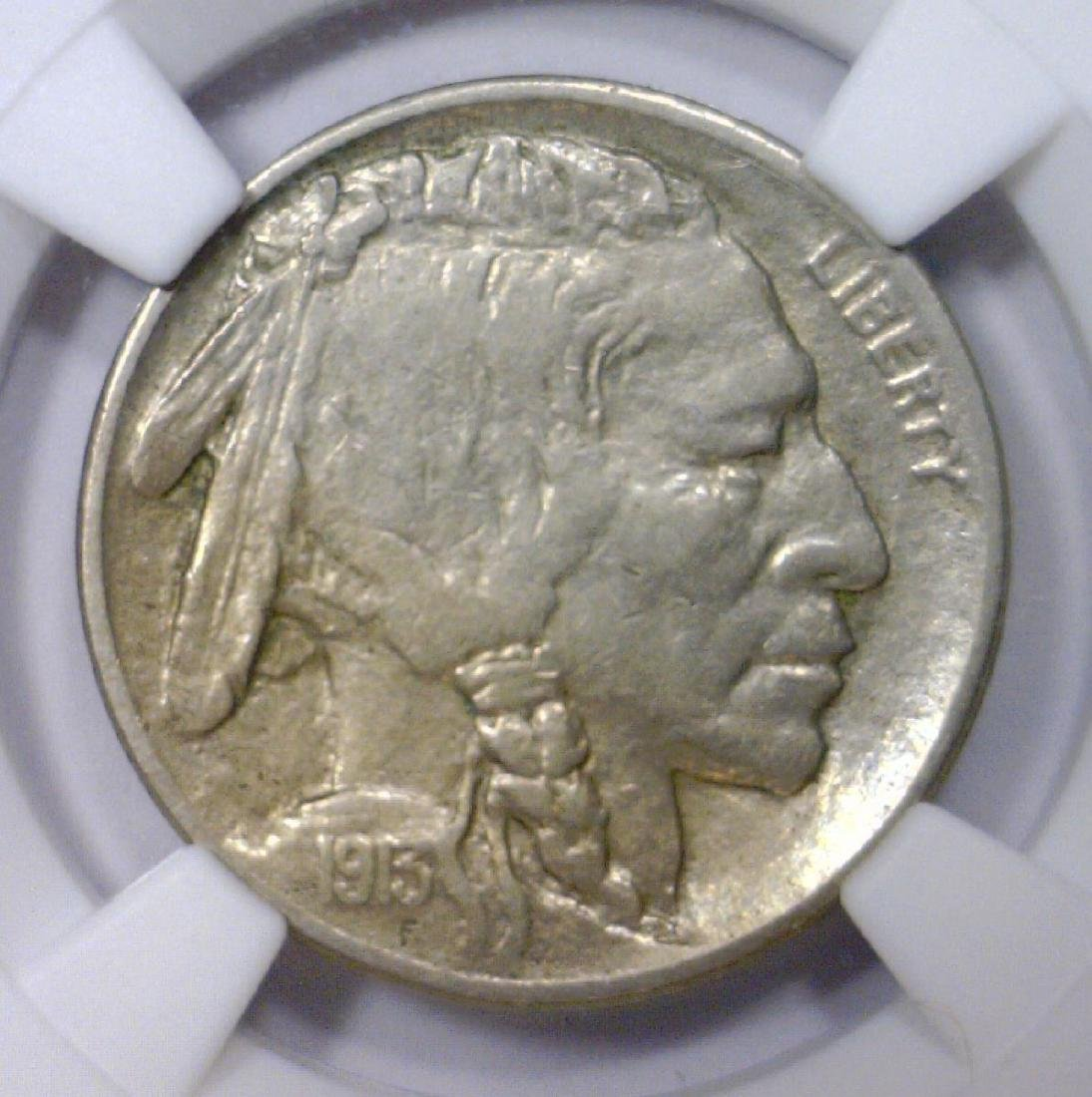 1913-D Buffalo Nickel Type 2 NGC XF details clnd