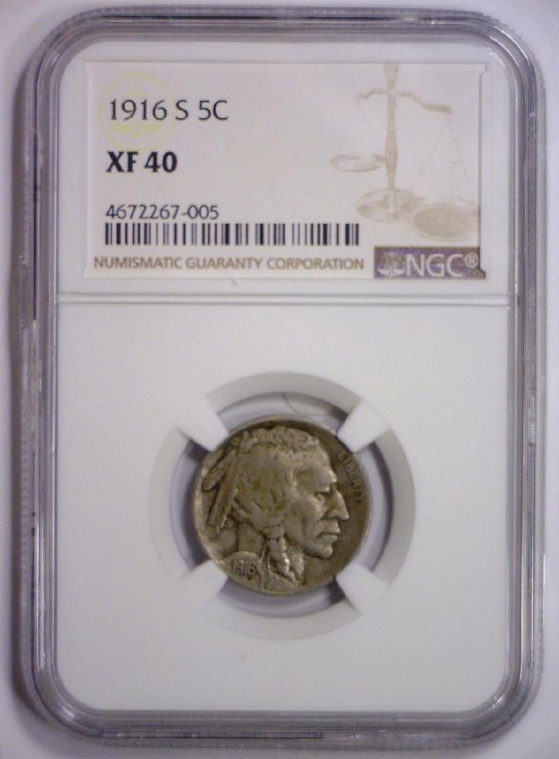 1916-S Buffalo Nickel Extra Fine NGC XF40 - 2