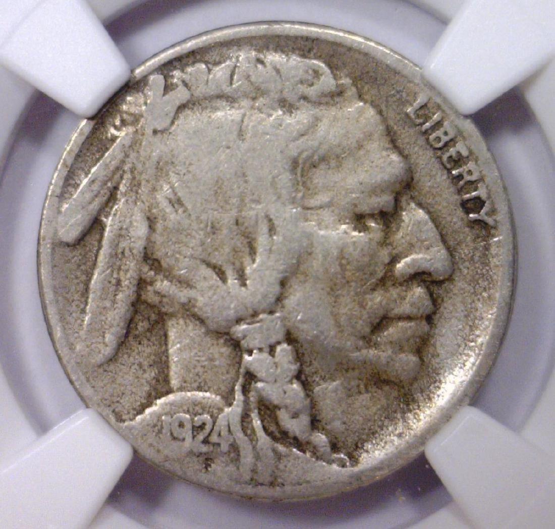 1924-S Buffalo Nickel Better Date Fine NGC F15