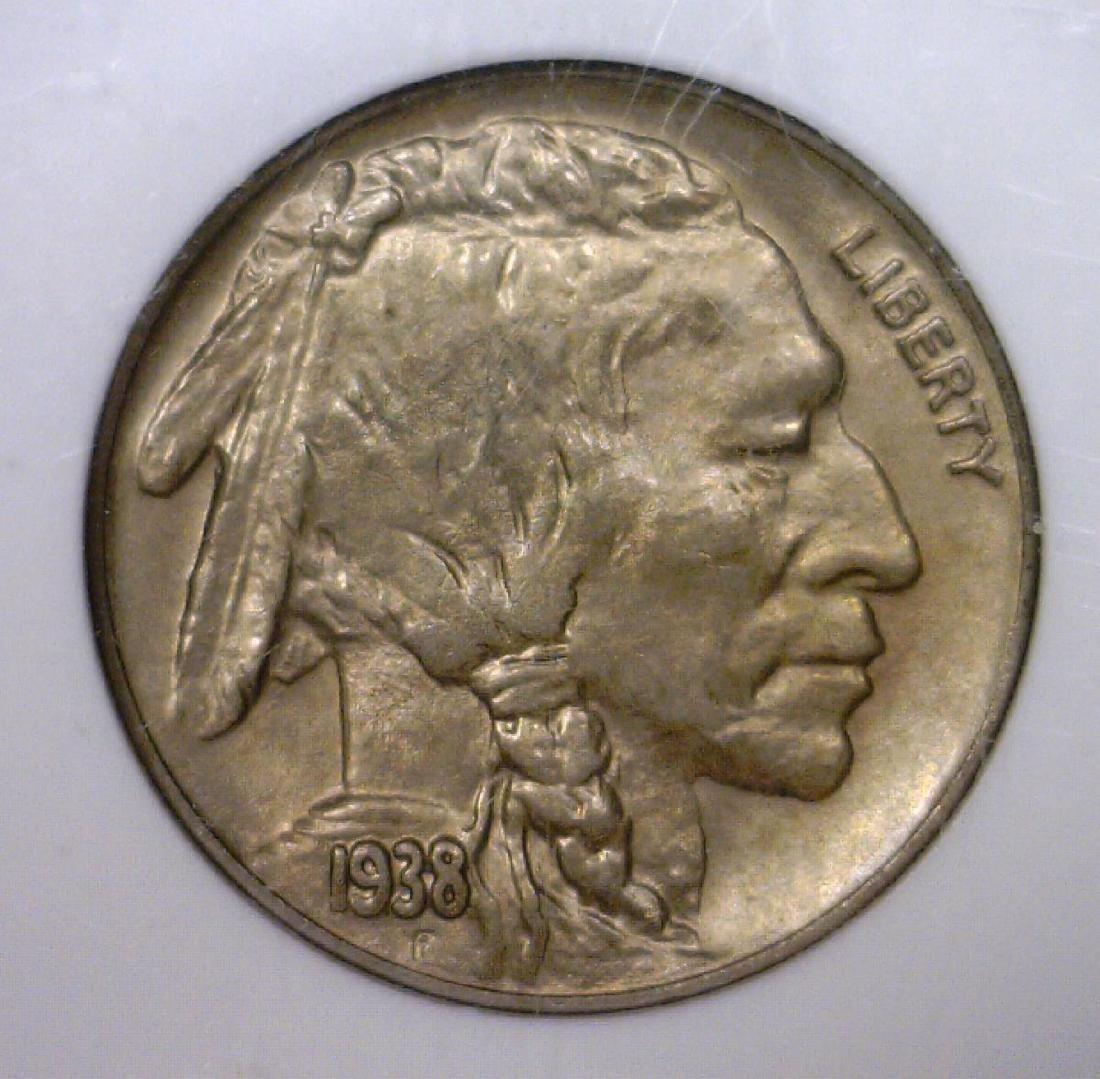 1938 D/S Buffalo Nickel RPM NGC MS65