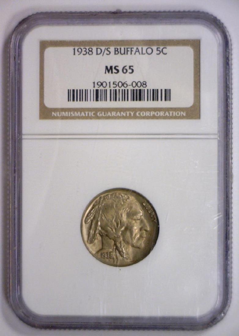 1938 D/S Buffalo Nickel RPM NGC MS65 - 4