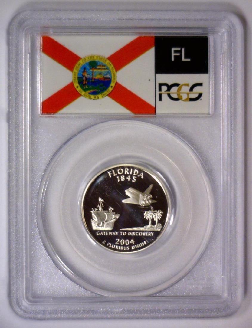 2004 Florida State Silver Proof Quarter PCGS PR70