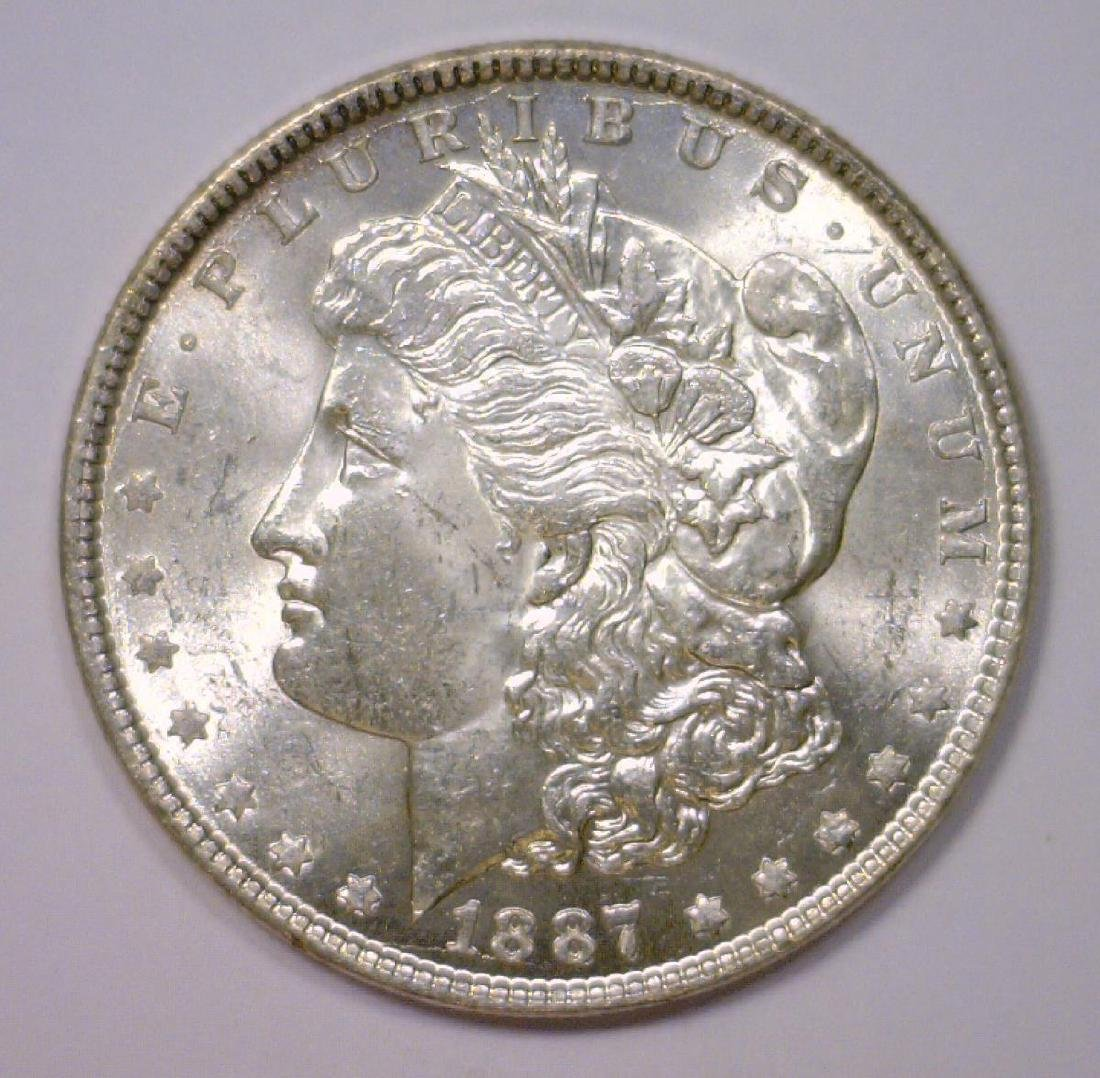 1887 Morgan Silver Dollar UNC Uncirculated BU