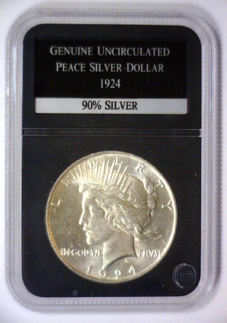 1924 Peace Silver Dollar Uncirculated UNC