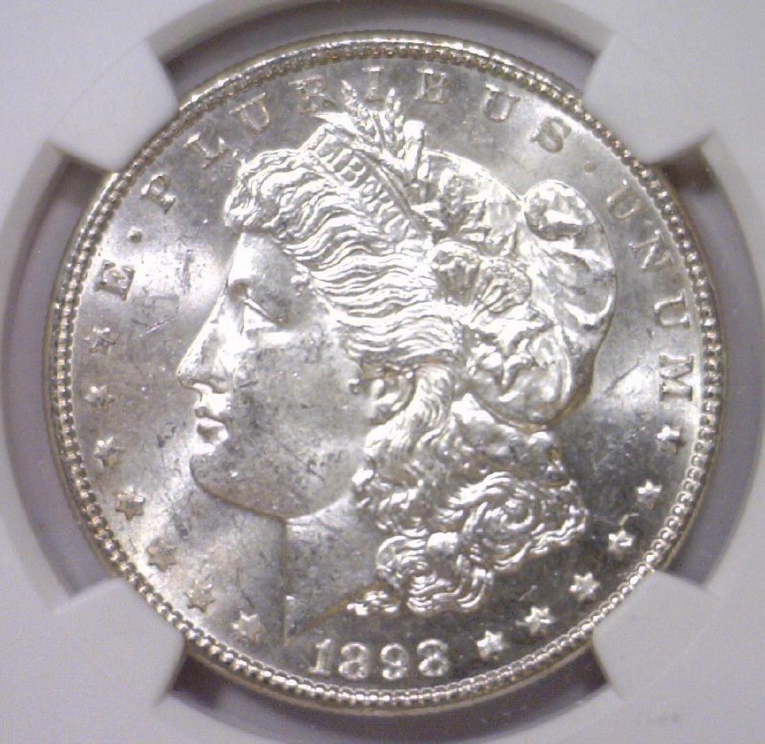 1898 Morgan Silver Dollar NGC MS62