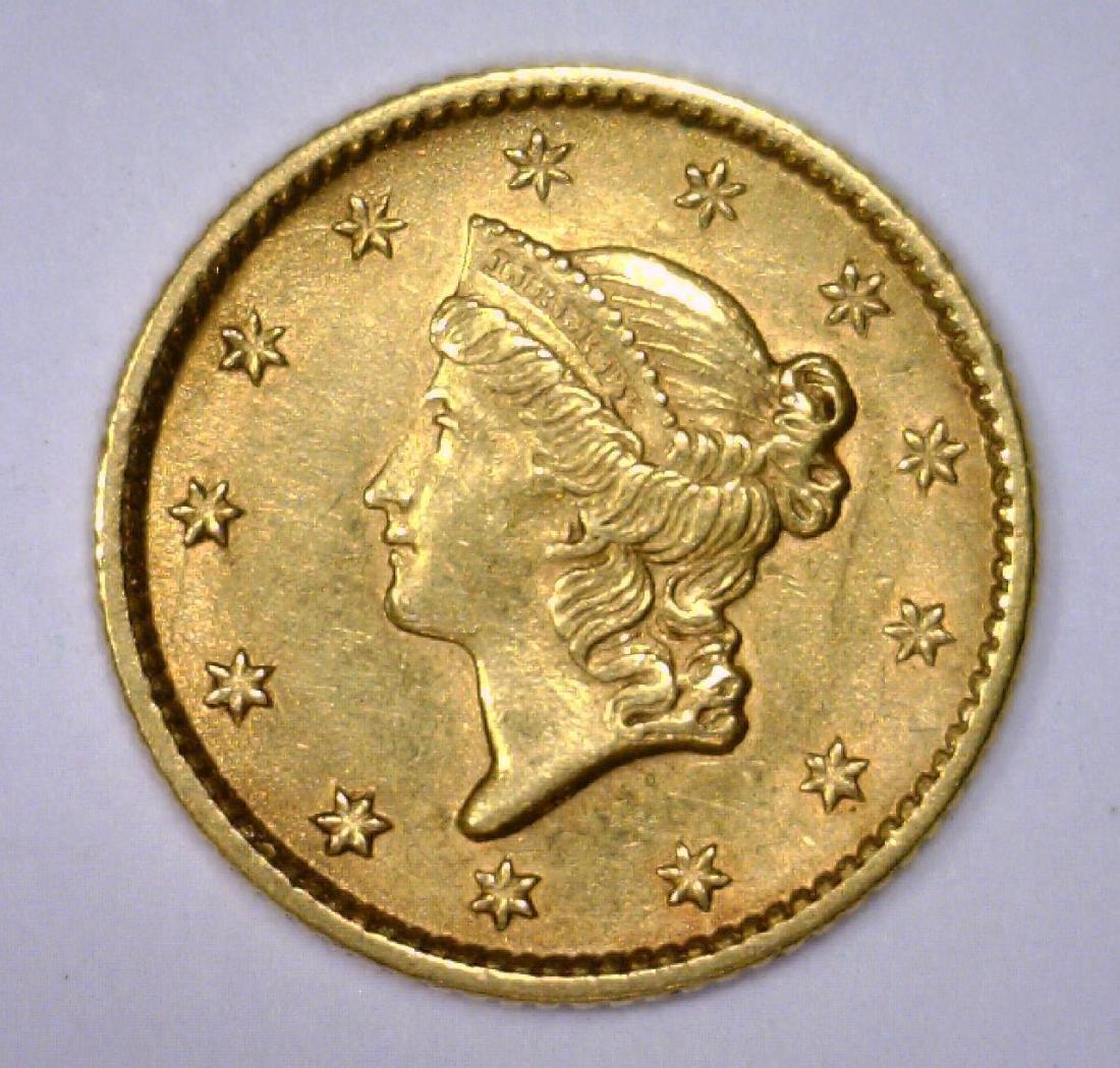 1853 $1 Liberty Head Gold Dollar Extra Fine XF