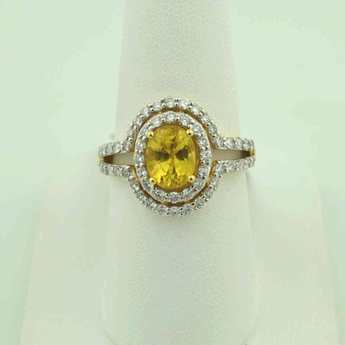 18kt yellow gold yellow sapphire ring